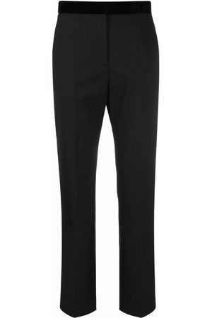 Sandro Paris Pressed-crease tailored trousers