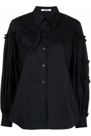 Vivetta Ruffle-detail cotton shirt