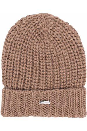 LES HOMMES KIDS Logo knit beanie hat