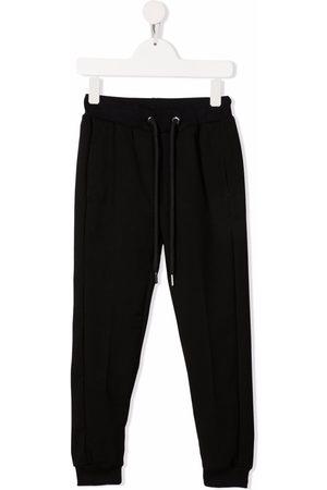 LES HOMMES KIDS Drawstring-fastening slim trackpants