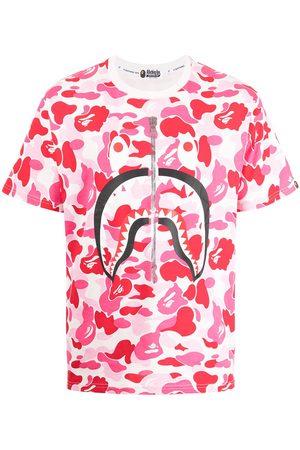 A BATHING APE® Camouflage-print logo T-shirt