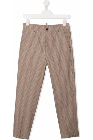 Dsquared2 TEEN check-print tailored trousers - Neutrals