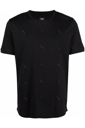 Fendi Logo-embroidered polka-dot T-shirt