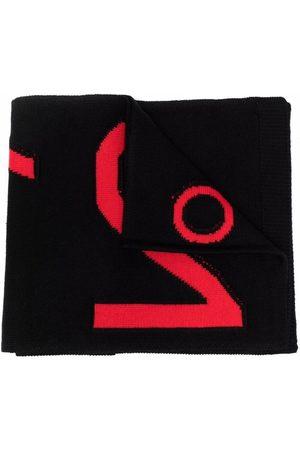 Nº21 Intarsia logo scarf
