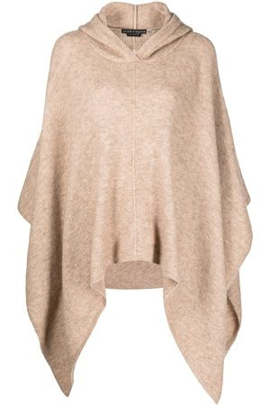 ALICE+OLIVIA Hooded wool-blend poncho - Neutrals