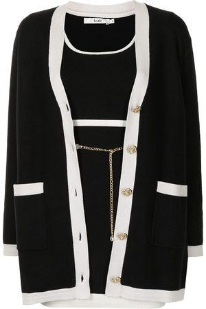 B+AB Two-tone knitted dress set