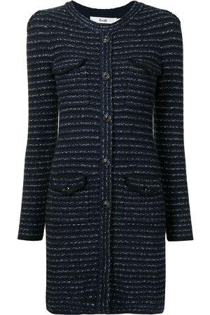 B+AB Buttoned stretch-knit minidress