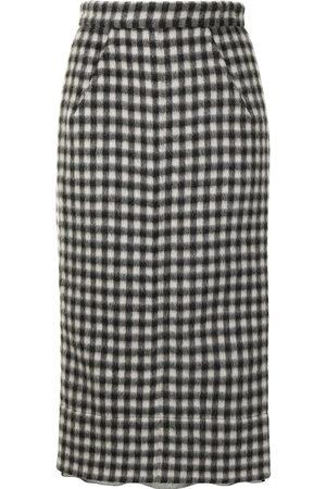 Nº21 Checked pencil skirt