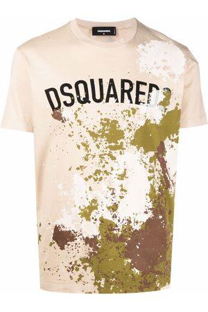 Dsquared2 Paint-splatter T-shirt - Neutrals