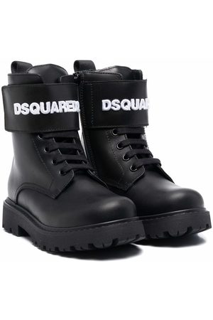 Dsquared2 Logo lettering lace-up boots