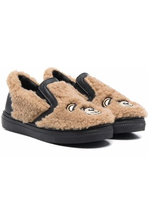 Moschino Low-top teddy trainers