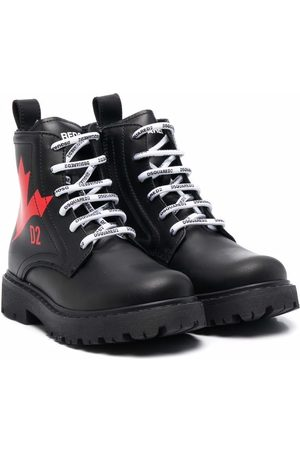 Dsquared2 Maple leaf lace-up boots