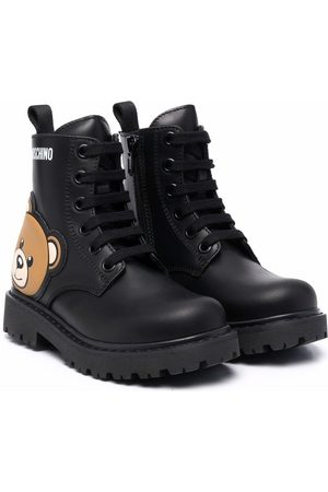 Moschino Teddy Bear lace-up boots