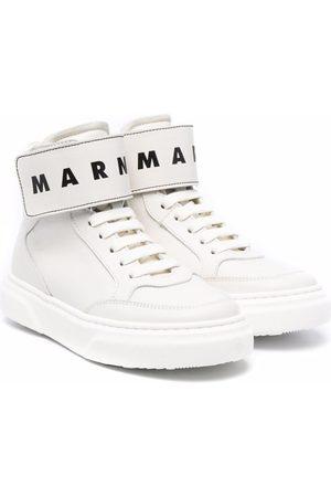 Marni Logo-strap high-top trainers