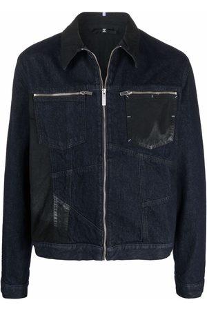 McQ Contrast zip-up denim jacket