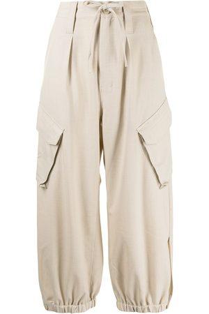 Y-3 Cargo straight-leg trousers - Neutrals