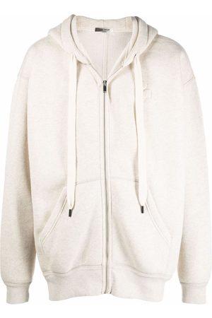 Isabel Marant Embossed logo zip hoodie - Neutrals