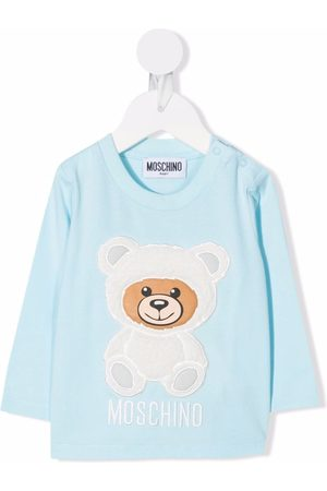 Moschino Teddy bear-patch cotton sweatshirt
