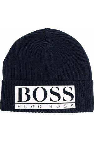 HUGO BOSS Logo-appliqué beanie