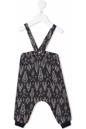 Zhoe & Tobiah Geometric-print knitted dungarees