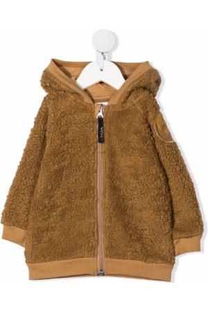 Molo Kids Teddy-texture zip-up hoodie