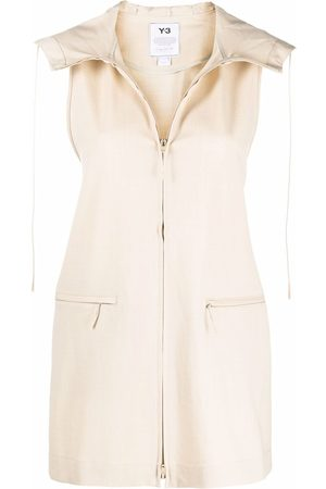 Y-3 Sleeveless zip-fastening jacket - Neutrals