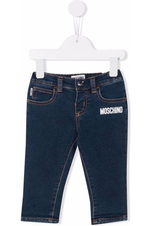 Moschino Kids Logo-print cotton jeans