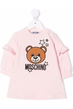 Moschino Kids Teddy Bear-motif embroidered dress