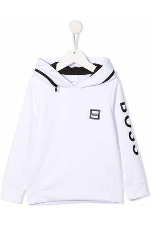 BOSS Kidswear Logo patch fleece hoodie