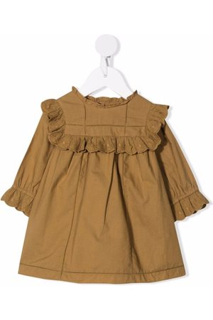 Bonpoint Long-sleeve cotton midi dress