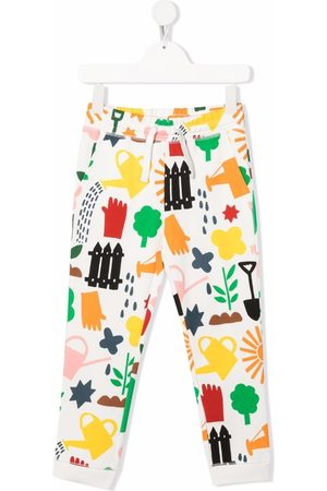 Stella McCartney Kids Garden-print straight-leg trousers