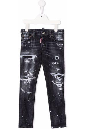 Dsquared2 Kids Paint-splatter distressed-effect jeans