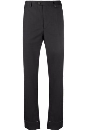 Brioni Stitch detailing tailored trousers - Grey