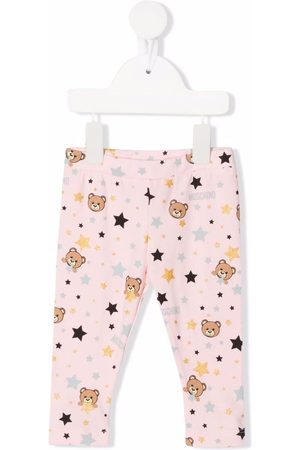Moschino Kids Teddy Bear motif leggings