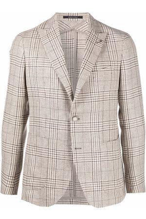 Tagliatore Single-breasted checked blazer - Neutrals