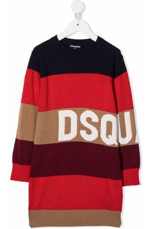 Dsquared2 Kids Stripe-print midi dress
