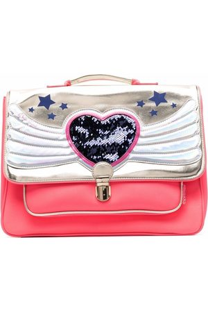 Billieblush Metallic heart-embellished bag
