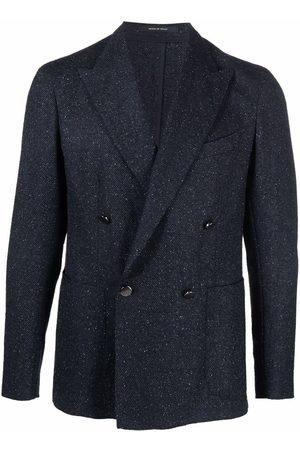 Tagliatore Double-breasted grained blazer