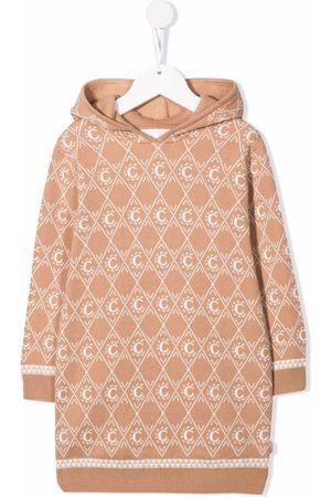 Chloé Kids Monogram-pattern knitted jumper dress - Neutrals