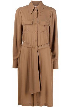 BLANCA Women Casual Dresses - Celosia tie-waist shirtdress - Neutrals