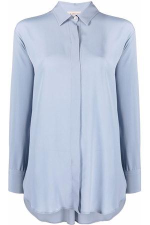 Blanca Vita Concealed-front shirt
