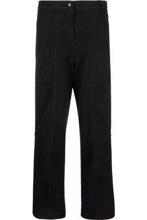 Aspesi High-rise straight-leg trousers
