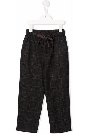 Zhoe & Tobiah Straight-leg checked trousers - Grey