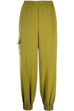 BLANCA Women Straight Leg Pants - Pistacia elasticated-ankle trousers