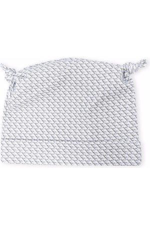 Emporio Armani Kids Monogram-print cotton hat