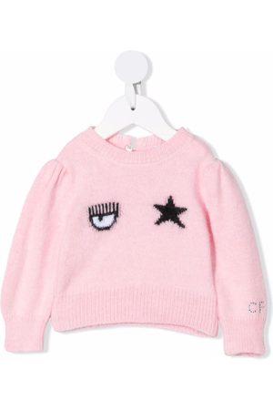 Chiara Ferragni Kids Eye star print jumper