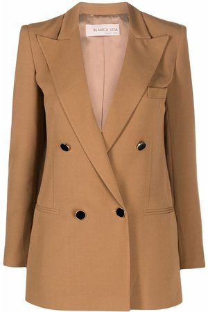 Blanca Vita Giulietta double-breasted blazer - Neutrals