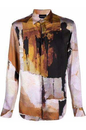 Emporio Armani Men Long sleeves - Graphic-print long-sleeved shirt