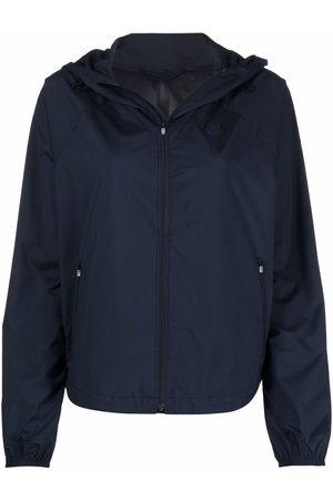 Kenzo Women Jackets - Tiger-patch hooded jacket