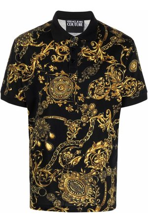 Versace Jeans Couture Baroque-print polo shirt